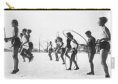 Hoop Jumping Schoolgirls Carry-all Pouch by Underwood Archives