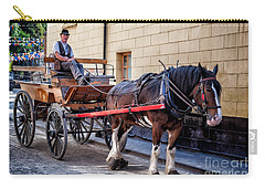 Horse And Cart Carry-all Pouch by Adrian Evans