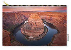 Horseshoe Dawn Carry-all Pouch by Mike  Dawson