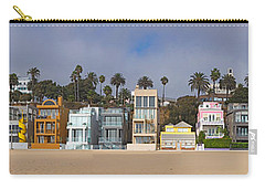 Houses On The Beach, Santa Monica, Los Carry-all Pouch by Panoramic Images