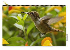 Hummingbird Looking For Food Carry-all Pouch by Heiko Koehrer-Wagner
