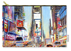 I Heart Ny Carry-all Pouch by Heather Calderon
