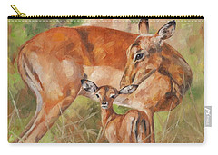 Impala Antelop Carry-all Pouch by David Stribbling