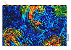 Impressionist Koi Fish By Sharon Cummings Carry-all Pouch by Sharon Cummings