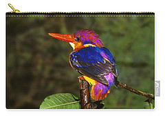 India Three Toed Kingfisher Carry-all Pouch by Anonymous