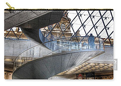 Inside The Louvre Museum In Paris Carry-all Pouch by Marianna Mills
