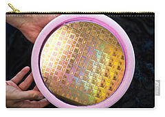 Carry-all Pouch featuring the photograph Integrated Circuits On Silicon Wafer by Science Source