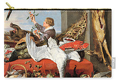 Interior Of An Office, Or Still Life With Game, Poultry And Fruit, C.1635 Oil On Canvas Carry-all Pouch by Frans Snyders or Snijders