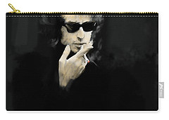 Inwardly Faded  Bob Dylan Carry-all Pouch by Iconic Images Art Gallery David Pucciarelli