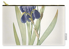 Iris Germanica Bearded Iris Carry-all Pouch by Pierre Joseph Redoute