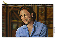 Javier Bardem Painting Carry-all Pouch by Paul Meijering