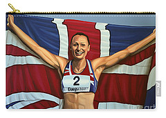Jessica Ennis Carry-all Pouch by Paul Meijering