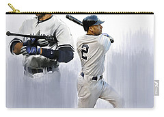 Jeter V Derek Jeter Carry-all Pouch by Iconic Images Art Gallery David Pucciarelli