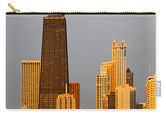John Hancock Center Chicago Carry-all Pouch by Adam Romanowicz