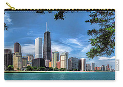 John Hancock Chicago Skyline Panorama Carry-all Pouch by Christopher Arndt