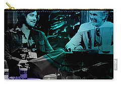 Johnny Carson And Freddie Prince Jr Carry-all Pouch by Marvin Blaine