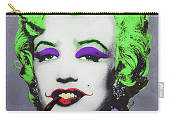 Joker Marilyn With Surreal Pipe Carry-all Pouch by Filippo B