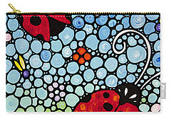 Joyous Ladies Ladybugs Carry-all Pouch by Sharon Cummings