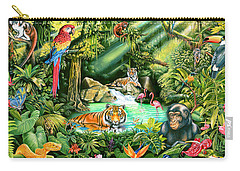 Jungle Variant 1 Carry-all Pouch by Mark Gregory