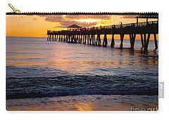 Juno Beach Pier Carry-all Pouch by Carey Chen