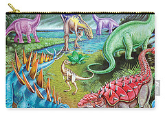 Jurassic Swamp Variant 1 Carry-all Pouch by Mark Gregory