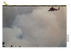 Carry-all Pouch featuring the photograph K-max Helicopter On Myrtle Fire by Bill Gabbert