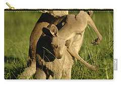 Kangaroos Taking A Bow Carry-all Pouch by Bob Christopher