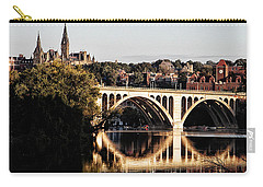 Key Bridge And Georgetown University Washington Dc Carry-all Pouch by Bill Cannon
