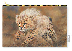 Kicking Up Dust 3 Carry-all Pouch by David Stribbling