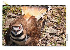 Killdeer On Its Nest Carry-all Pouch by Chris Flees