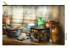 Kitchen - In A Kitchen Window Carry-all Pouch by Mike Savad