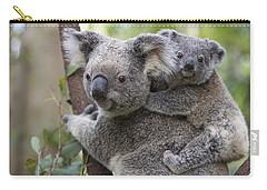 Koala Joey On Mothers Back Australia Carry-all Pouch by Suzi Eszterhas