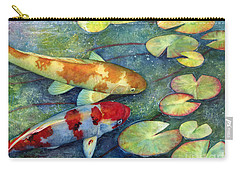 Koi Garden Carry-all Pouch by Hailey E Herrera