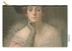 Lady In Pink Carry-all Pouch by Joseph W Gies