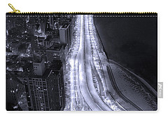 Lake Shore Drive Aerial  B And  W Carry-all Pouch by Steve Gadomski
