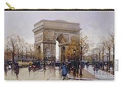 L'arc De Triomphe Paris Carry-all Pouch by Eugene Galien-Laloue