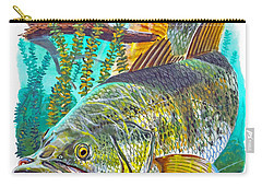 Largemouth Bass Carry-all Pouch by Carey Chen