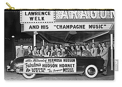 Lawrence Welk In His Hudson Carry-all Pouch by Underwood Archives