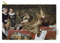 Le Cellier Oil On Canvas Carry-all Pouch by Frans Snyders or Snijders