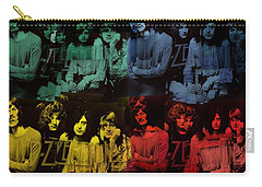 Led Zeppelin Pop Art Collage Carry-all Pouch by Dan Sproul