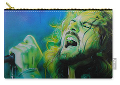 Eddie Vedder - ' Lemon Yellow Sun ' Carry-all Pouch by Christian Chapman Art