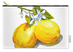 Lemons And Blossoms Carry-all Pouch by Irina Sztukowski
