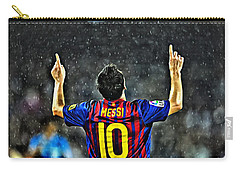 Leo Messi Poster Art Carry-all Pouch by Florian Rodarte