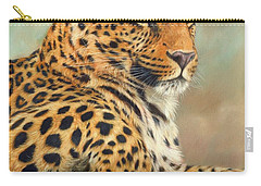 Leopard Carry-all Pouch by David Stribbling