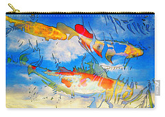 Life Is But A Dream - Koi Fish Art Carry-all Pouch by Sharon Cummings