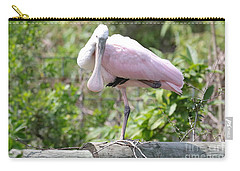 Light Pink Roseate Spoonbill Carry-all Pouch by Carol Groenen