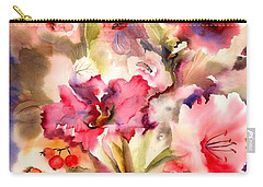 Lilies Carry-all Pouch by Neela Pushparaj