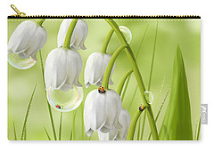 Lily Of The Valley Carry-all Pouch by Veronica Minozzi