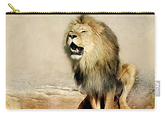 Lion Carry-all Pouch by Heike Hultsch