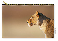 Lioness Portrait Carry-all Pouch by Johan Swanepoel